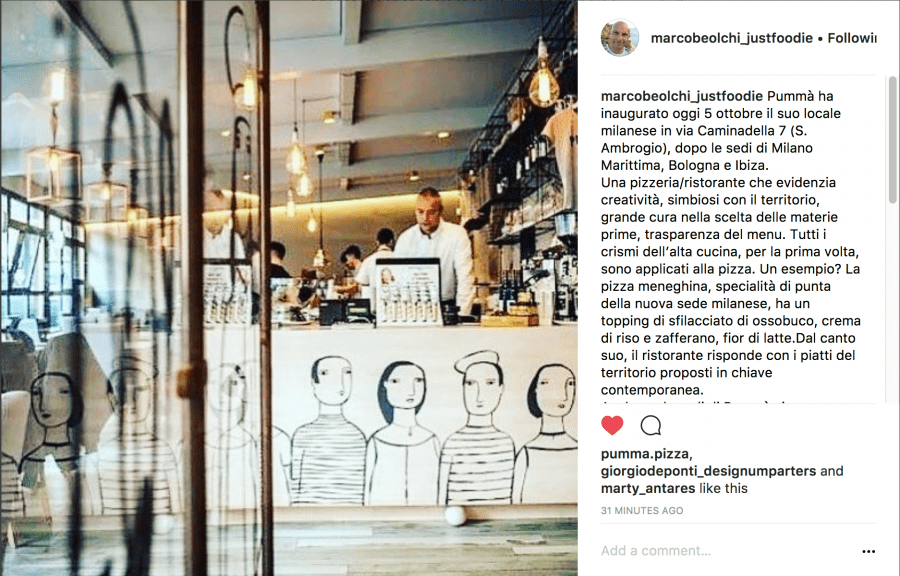 da Instagram, apertura Pummà Milano (marcobeolchi_justfoodie)